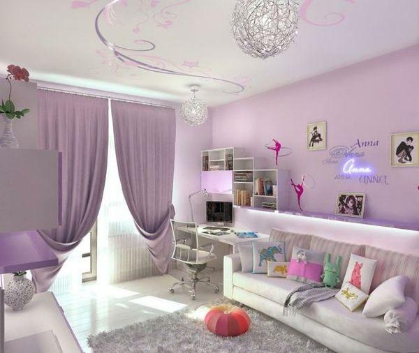 Idées de chambre adolescente violet vif