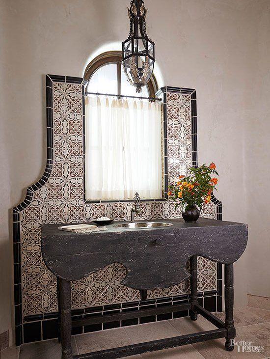 Idées de traitement de fenêtre de salle de bain