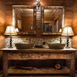 Idées impressionnantes de vanité de salle de bain rustique