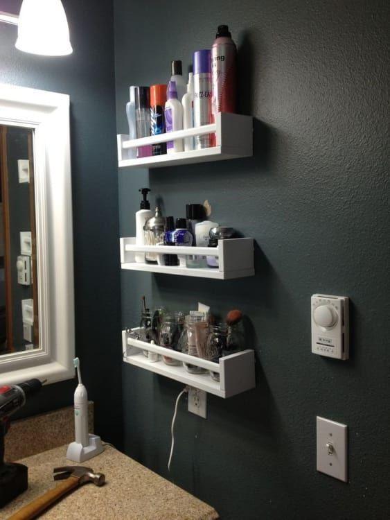 Idées pour rester dans la salle de bain – Rangement pour petites salles de bain