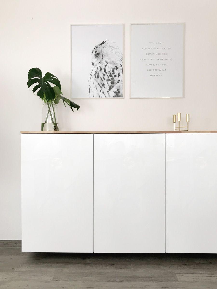 Ikea Hack – Armoires de cuisine Metod comme buffet ⋆ elfenweiss