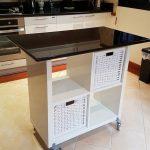 Îlot de cuisine petit bricolage (idées de petits îlots de cuisine) #Petit #KitchenIsland #Id