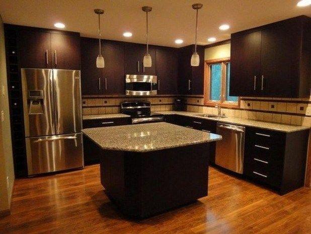 Incroyables idées de couleurs de cuisine pour les cabinets sombres 16