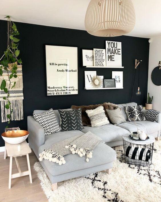 Inspiration de décoration murale: meilleures idées Comment décorer une salle de séjour