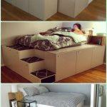 Instructions de bricolage IKEA lit de plate-forme lit de lit ... - #bed #Cabinet #DIY #ikea ...