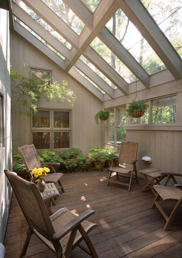 J'adore ce conservatoire! Patio neutre – # Fenêtre de toit #cette #Amour #Neutra …