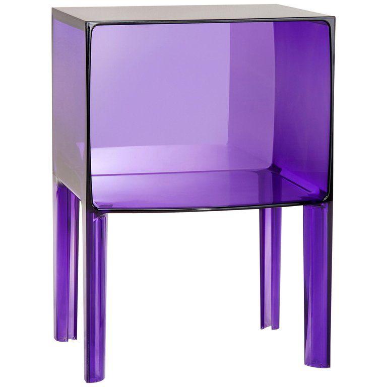 Kartell Table – Chevet Ghost Buster Violet Philippe Starck & Eugeni Quitllet Italien Moderne