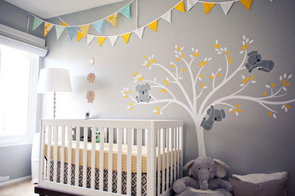 Koala Baum Wand Aufkleber Baby Kinderzimmer moderne Dekor abnehmbare Wandaufkleber verschlafen Koala Bär auf Baum Wandaufkleber