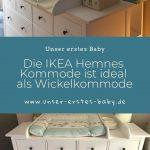 La commode IKEA Hemnes est idéale comme table à langer dans la chambre de bébé