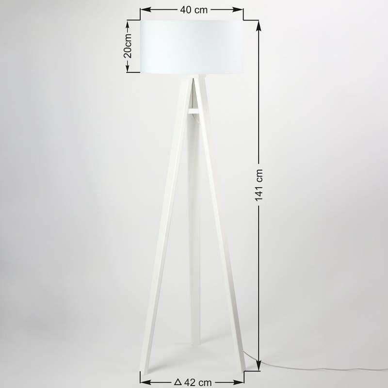 Lampadaire en bois imprimé Motif lame en bois Flip by Maco Design