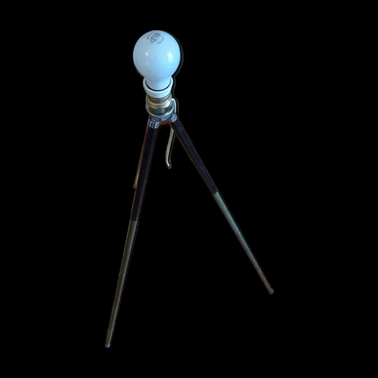 Lampe trépied style industriel ancienne années 1940