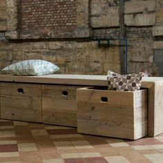 Le banc de rangement – un meuble fonctionnel qui personnalise le décor – Archzine.fr