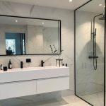 Le design de la salle de bain moderne va bien avec ça :)