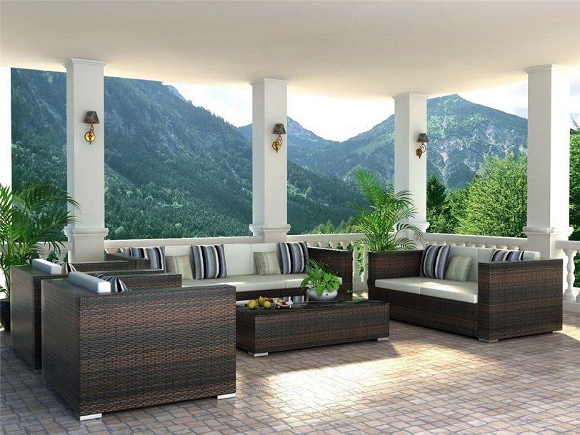 Le merveilleux mobilier en osier pour l'extérieur