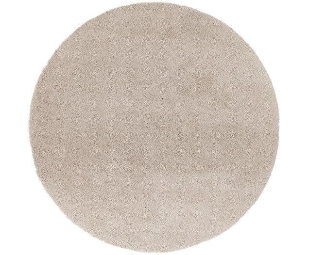Leighton long tapis rond en beige