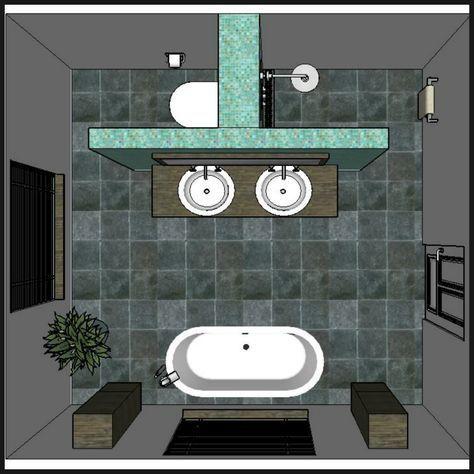 Les 12 meilleures idées de design d'aménagement de salle de bain – # Salle de bain # Design #Idées #Layout #onabudg …