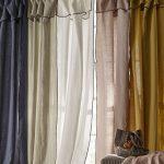 Les rideaux en lin lavé sont un incontournable pour annoncer l'arrivée des bea...