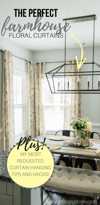 Les rideaux floraux The Perfect Farmhouse + Mon rideau à suspendre