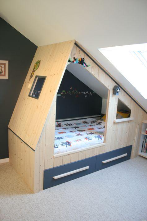 Lit cabane enfant sur mesure avec rangements sous … – #avec #cabane #enfant #L…