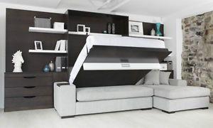 Lit escamotable avec sofa-causeuse modèle Exclusif Mural Expert Laval / North S…