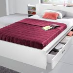 Lit futon Breckle, étagères extensibles des deux côtés dans la tête de lit acheter en ligne