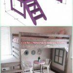 Lit mezzanine bricolage pour enfants # Treillis de travail en bois #DIYforkids # lit de ferme #pièce de travail ...