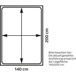 Lit rembourré Susella, 180×200 cm, mésange taupe