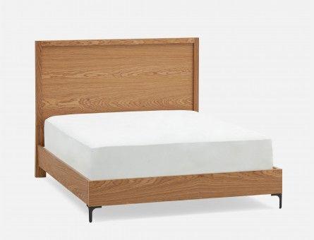Lits plateformes modernes – bois, cuir, tissu   Structube