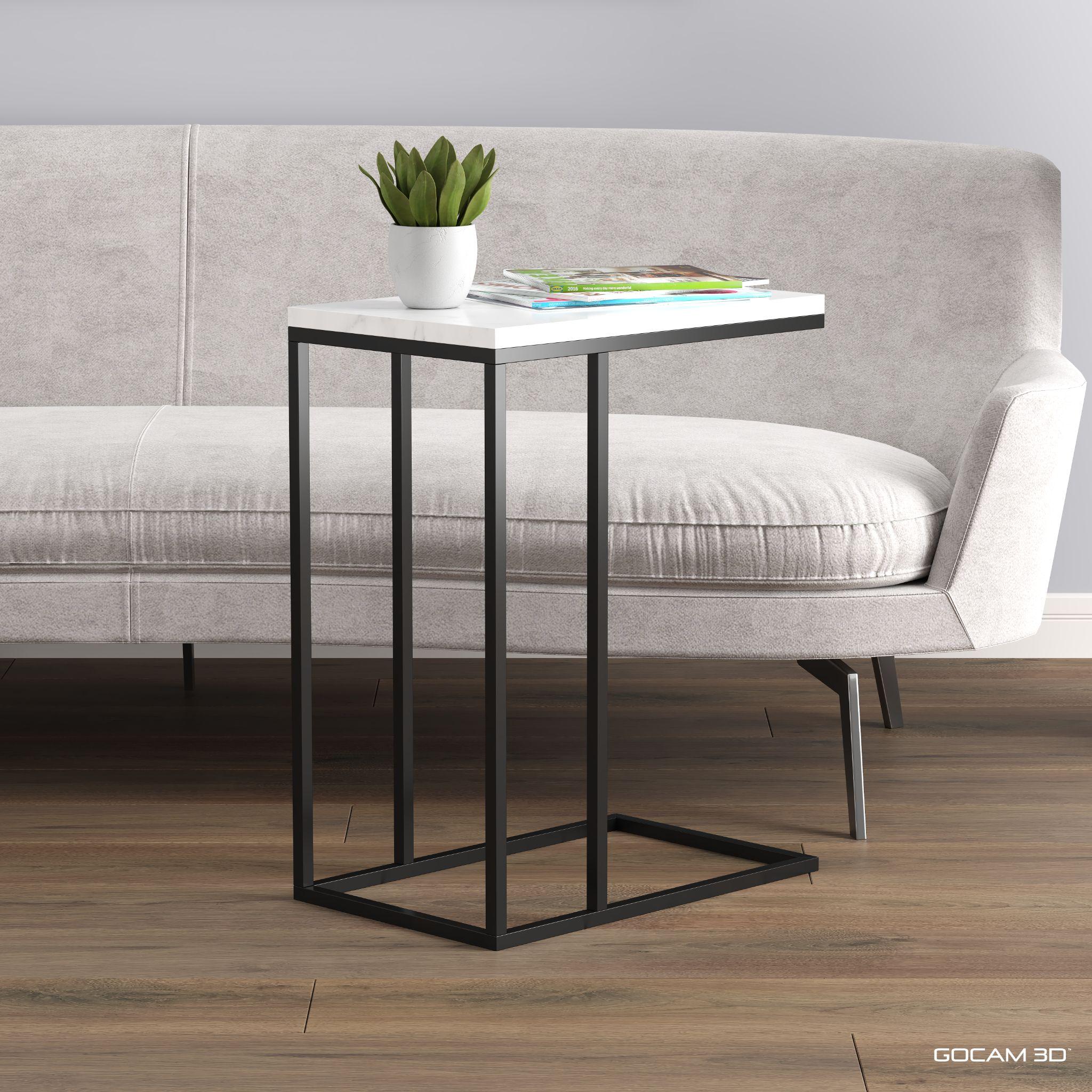 Living room end table design. Table de salon moderne. 3D renderings, rendus 3D: GOCAM3D www.gocam.ca