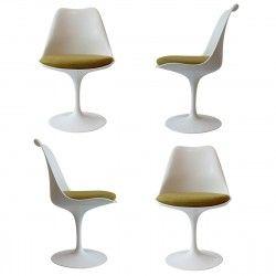 "Lot de 4 chaises ""Tulipe"" de E. Saarinen pour Knoll International"