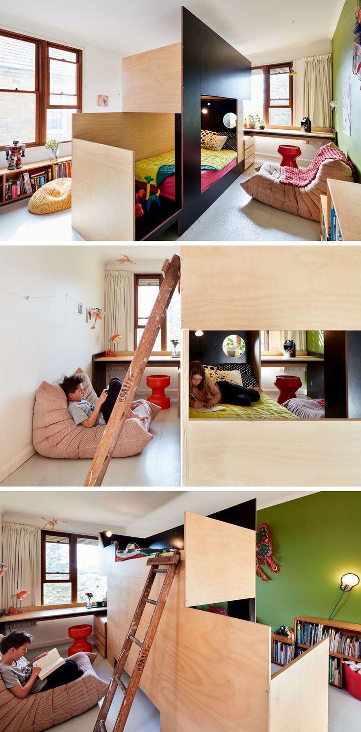 MAKE ont collaboré avec Tanguy Le Moing pour créer un lit superposé qui sépare …