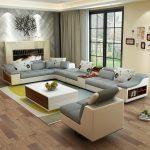 Magasin en ligne meubles de salon moderne en forme de U en cuir tissu canapé d'angle canapé sectionnel mis canapés design pour le salon avec pouf | Aliexpress Mobile