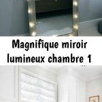 Magnifique miroir lumineux chambre 1