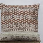 Main bloc imprimé coussin housse tapis rustique oreiller 20 X 20 coussin oreiller housse Dhurrie indien fait à la main coussin coussin canapé coussin de canapé