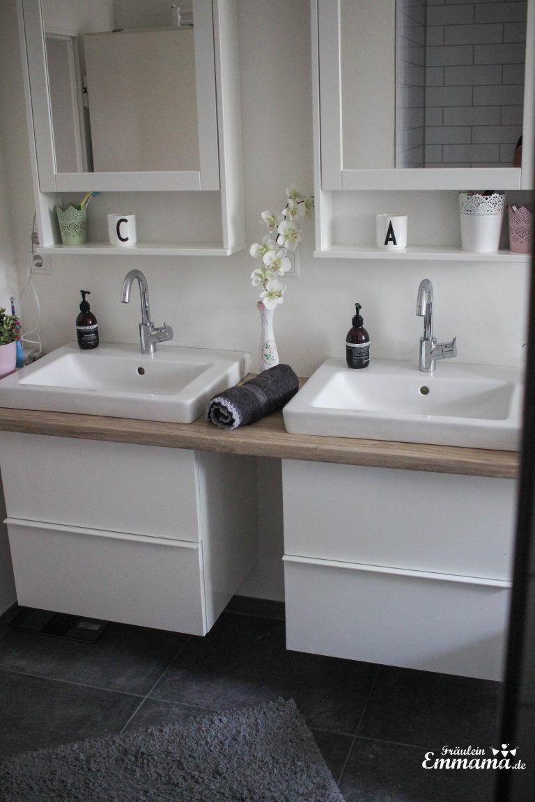Makeover salle de bain en gris et blanc – Miss Emmama