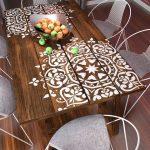 Mandala style pochoir - modèles de meubles grands - modèles de peinture murale - modèles de grands mandala - PochoirsLAB