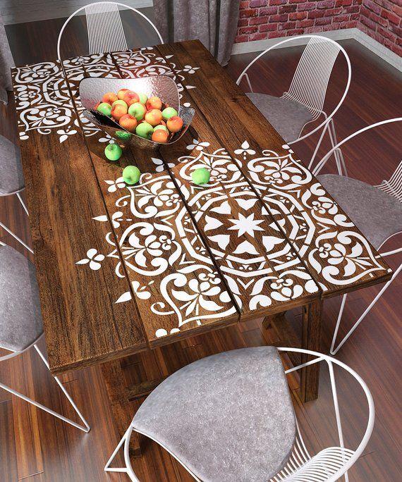 Mandala style pochoir – modèles de meubles grands – modèles de peinture murale – modèles de grands mandala – PochoirsLAB