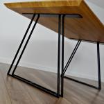 Metal Dining Table Legs (ensemble de 2). Table en acier Jambes Mercure. Base de table. Cadre en métal trapézoïde pour la table moderne du milieu du siècle