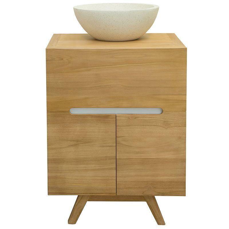 Meuble de salle de bains en teck (sans vasque) CALAM – MILIBOO