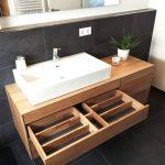 Meuble sous lavabo, en bois, moderne, massif, en chêne, sous meuble, sous plancher ...