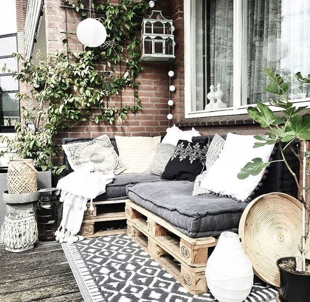 Meubles de palettes de terrasse – Balcon Garden 100