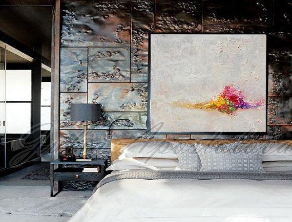 Minimalistische schilderij, witte abstracte kunst, landschap schilderen, print, winter abstract, minimale abstracte, witte Home decor, moderne grote muur