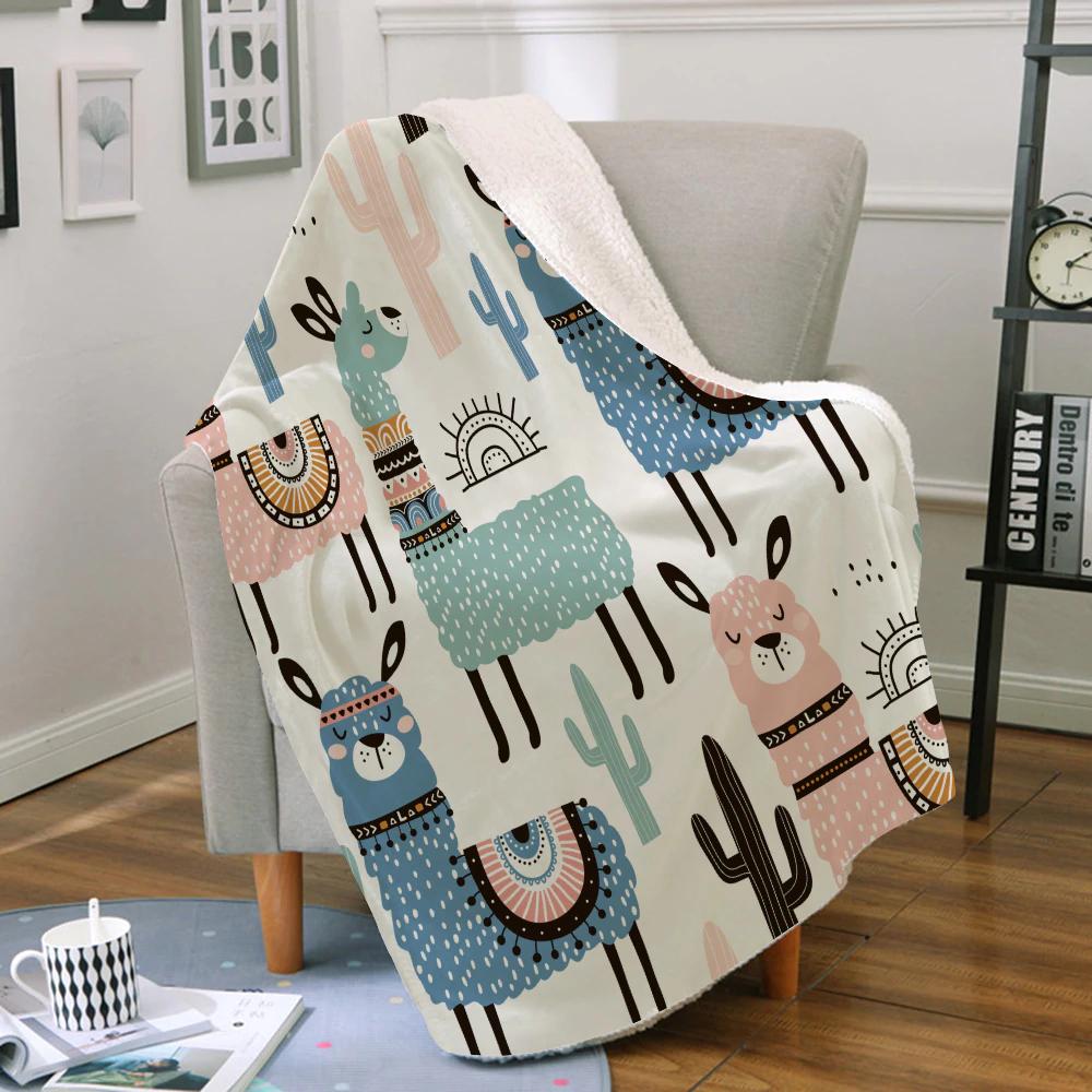 Miracille maison Textile couvertures belle bande dessinée alpaga doux chaud cor…