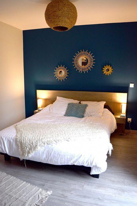 Miroir de la tête de lit de la chambre des parents Miroir en bois de la collection Sun … – Les plus belles idées de meubles