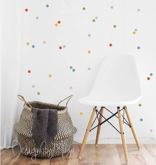 Mixed colors Confetti Polka Dot, wall decals kids Room, Nursery wall decal, Dots sticker, pastel Polka dots, baby room decals, polka dot art