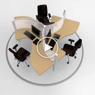 Mobilier de bureau modulaire – Postes de travail, cabines, systèmes, moderne, contemporain …..