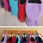 Modèle de tricot gratuit pour paniers suspendus Yip Yips - Rangement suspendu souple