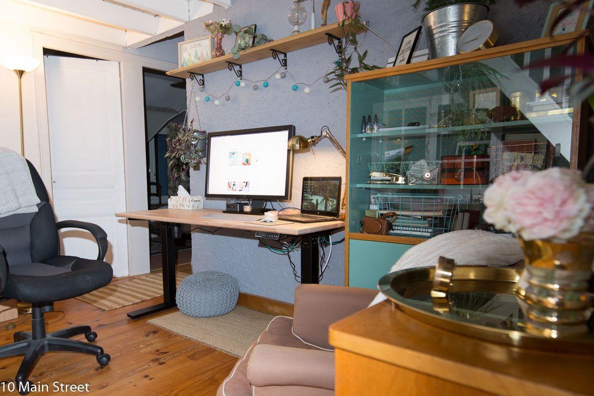 Mon bureau assis-debout | Bureaux assis-debout & perspectives | #homeoffice | St…
