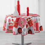 Nappe ronde (D180 cm) Tomato Party Rouge