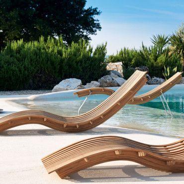 Nouveautés été 45 chaises longues transats et bains de soleil Chaise longue Swing Unopiu Déco